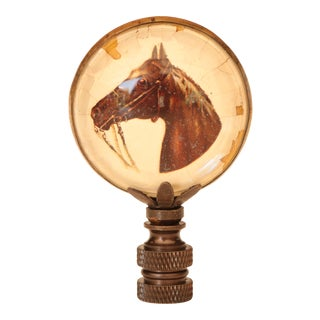 Equestrian Horse Rosette Lamp Finial For Sale