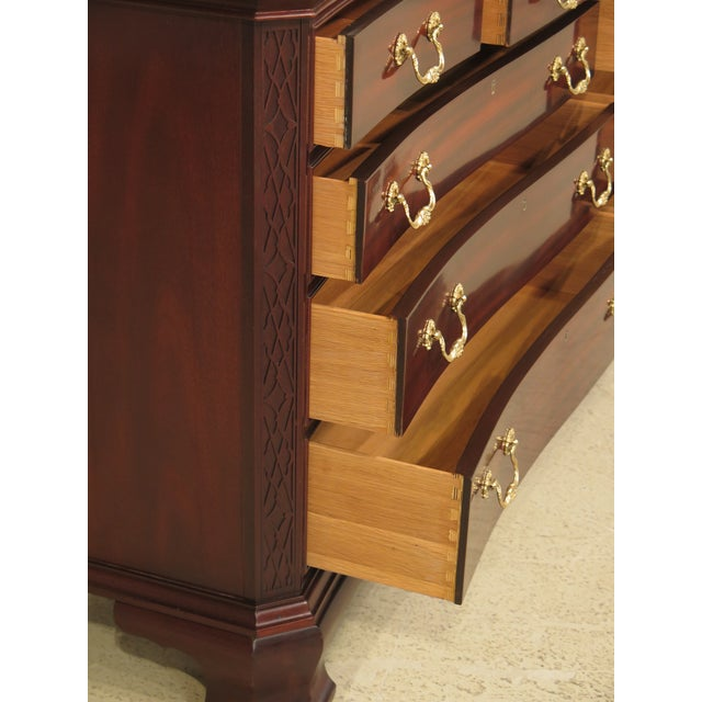 Councill Craftsmen Mahogany Triple Dresser For Sale - Image 9 of 11