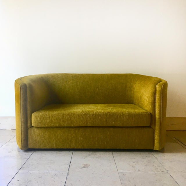 A Curved Arm Upholstered Sofa by Talisman Bespoke For Sale - Image 6 of 6