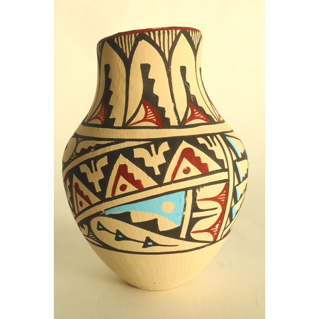 Jemez Native American Pottery Vase - Image 3 of 7