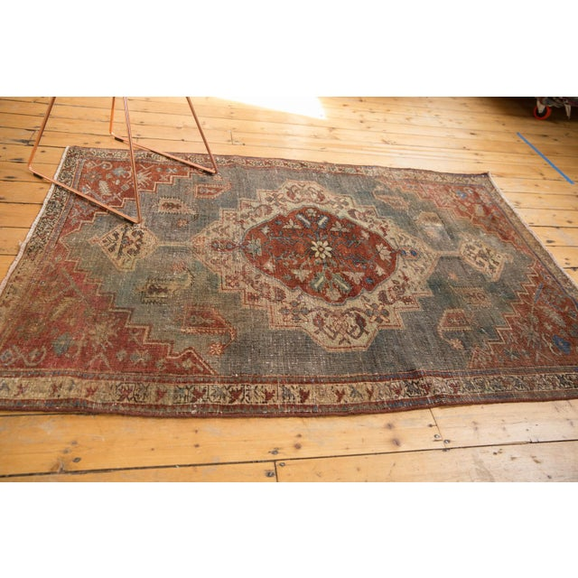 """Vintage Distressed Northwest Persian Rug - 4'3"""" X 6'3"""" For Sale - Image 9 of 13"""