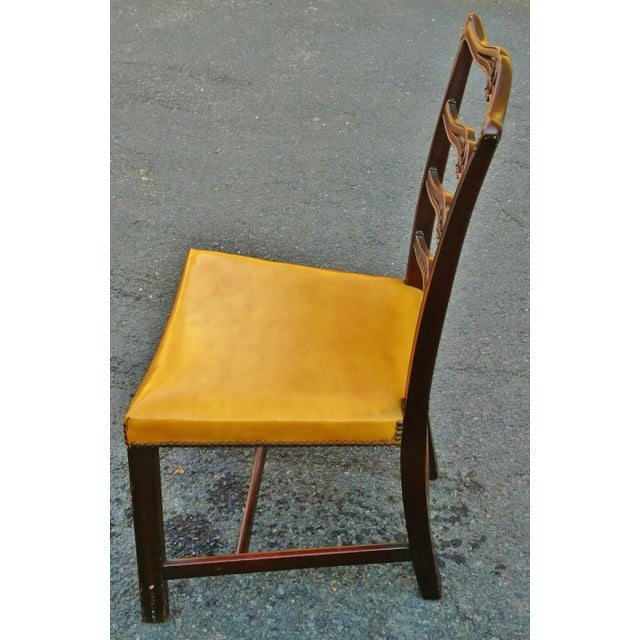19th C. Antique English Carved Mahogany Chippendale Dining Chairs- Set of 6 For Sale - Image 4 of 6