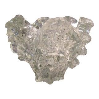1960s Brutalist Pertti Santalahti of Humppila Glassworks Art Glass Bowl For Sale