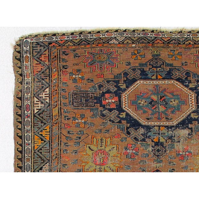 Antique Persian Sumak Kilim Rug- 5′ × 7′2″ - Image 3 of 6