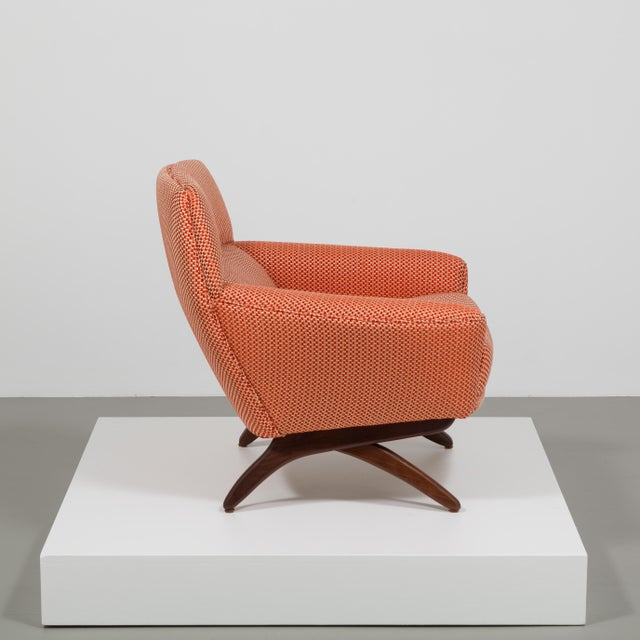 Leif Hansen A Danish Leif Hansen attributed Upholstered Armchair 1950s For Sale - Image 4 of 9