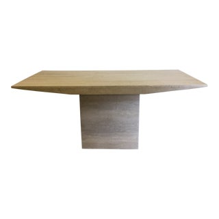Travertine Marble Dining Table or Desk For Sale