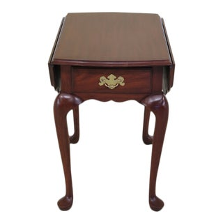 Henkel Harris Cherry Drop Leaf Living Room End Table