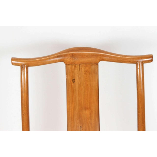 Asian Chinese Ming Style Elm Dining Room Chairs - Set of 8 For Sale - Image 3 of 8