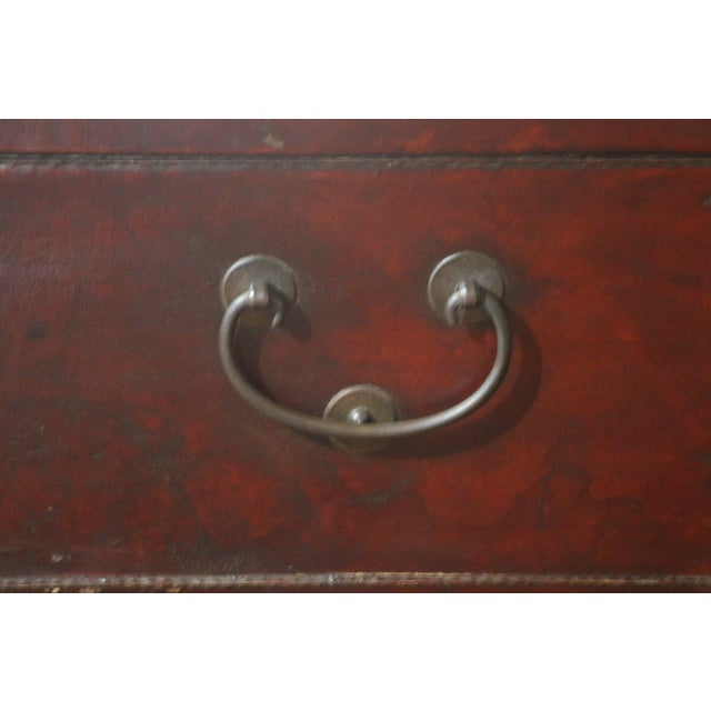 Chinese Leather Trunk For Sale In Los Angeles - Image 6 of 8