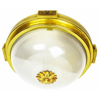 Vintage Atelier French Petitot Flush Mount. Pair Available For Sale