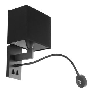 Eichholtz Reading Bronze Wall Lamp With Picture Light For Sale