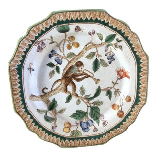 Chinoiserie Musical Monkey Plate For Sale