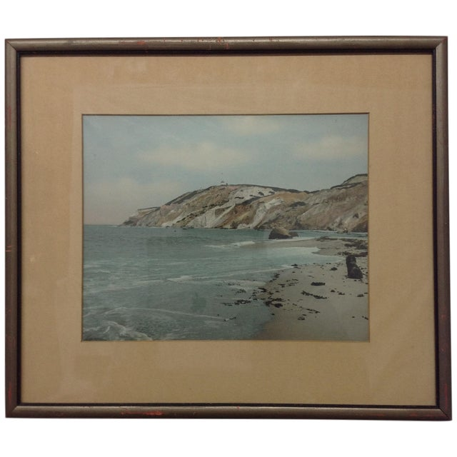 Wallace Nutting Tinted Atlantic Coast Photo 1942 - Image 1 of 6