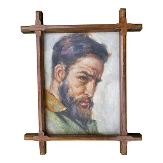 Russian Workman Oil Painting
