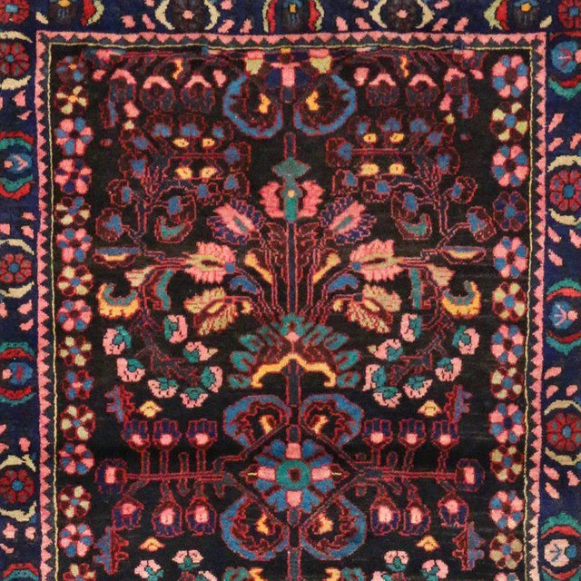 Textile Antique Persian Bakhtiari Runner with Modern Style in Vibrant Colors For Sale - Image 7 of 9