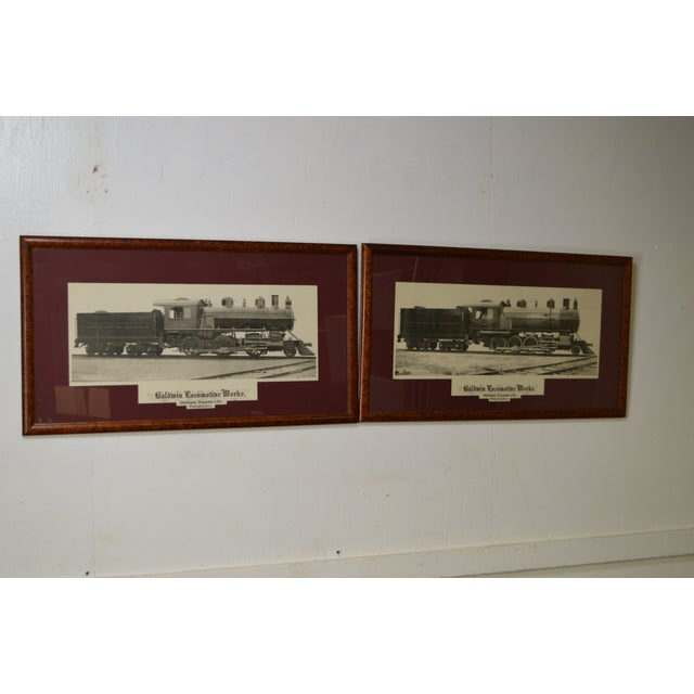 Traditional Baldwin Locomotive Works Pair of Vintage Framed Train Prints For Sale - Image 3 of 11