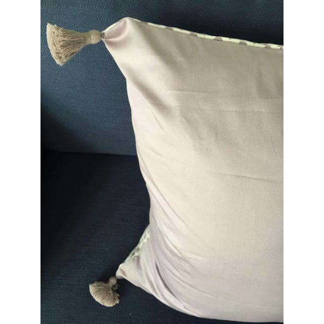 "Lee Jofa Custom Lee Jofa ""Little Leaf"" Heather Purple Pillow Cover For Sale - Image 4 of 5"