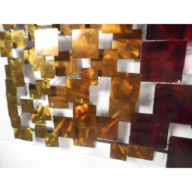 Contemporary Modern Curtis Jere Style Metal Wall Art - A Pair - Image 4 of 6