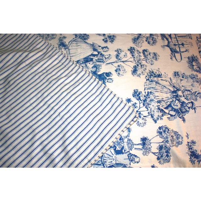 Custom Toile Duvet & Two Pillow Covers - S/3 - Image 4 of 6