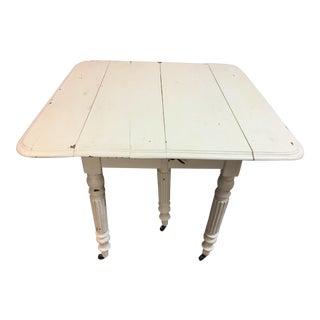 Antique Sloop Leg Drop Leaf Table