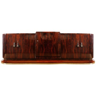 1930s Art Deco Sideboard in the Style of Jules Leleu, Mahogany, France For Sale