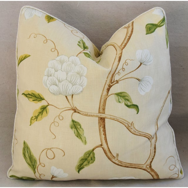 Designer Cowtan & Tout Snow Tree Linen Pillows - A Pair For Sale - Image 4 of 6