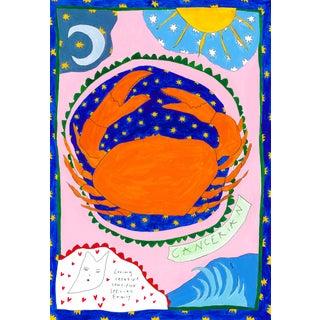 """""""Cancer Horoscope"""" Contemporary A4 Giclée Print For Sale"""