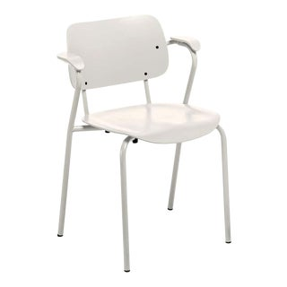 Lukki Chair in Stone White by Ilmari Tapiovaara & Artek For Sale