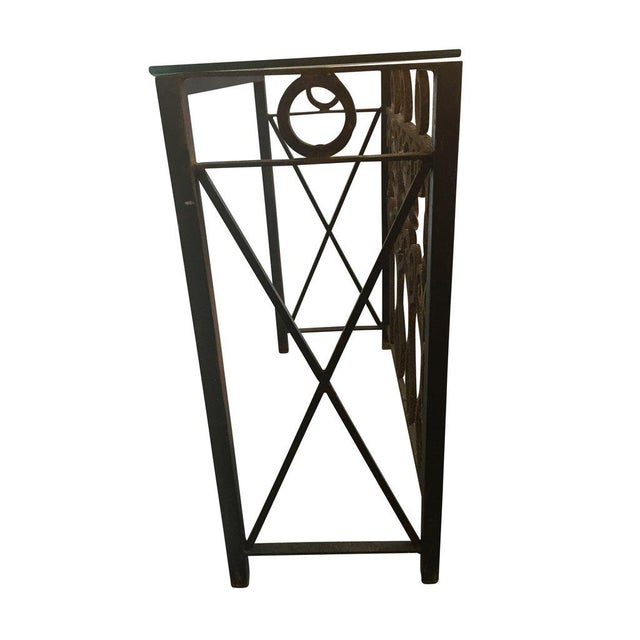 Contemporary Hand Forged Vintage Iron Table For Sale - Image 3 of 4
