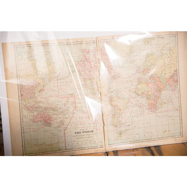 1900 - 1909 Cram's 1907 Map of World For Sale - Image 5 of 7