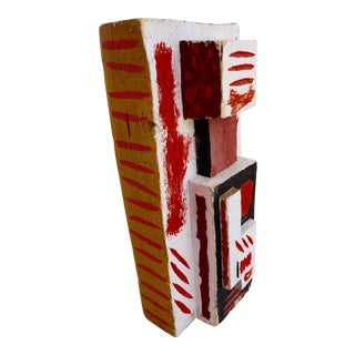 Abstract Painted Wood Sculpture by John Haley