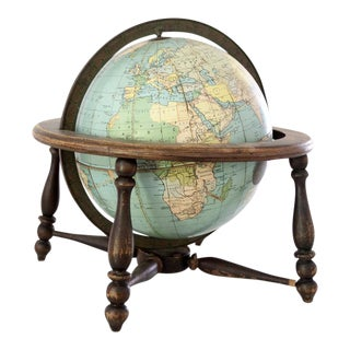 Antique 1920s World Globe