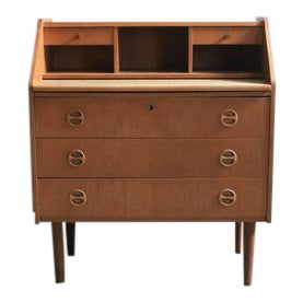 Teak Dresser With Extendable Desktop