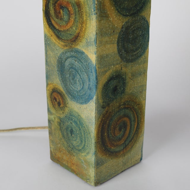 1960's Vintage Marcello Fantoni Ceramic Table Lamps- A Pair For Sale In New York - Image 6 of 13