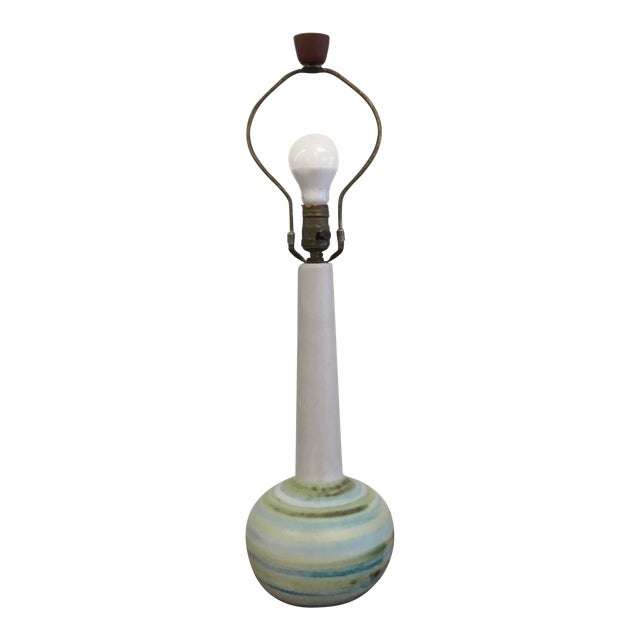 Mid-Century Modern Ceramic Table Lamp by Martz For Sale