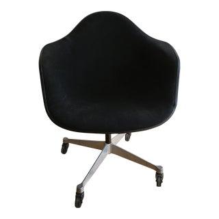 Eames Pacc Black Fiberglass Swivel Armchair