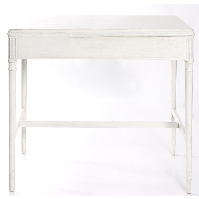 Widdicomb 1930s White Painted Writing Desk/ Vanity by Widdicomb For Sale - Image 4 of 7