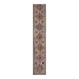 1930s Antique American Hooked Rug For Sale