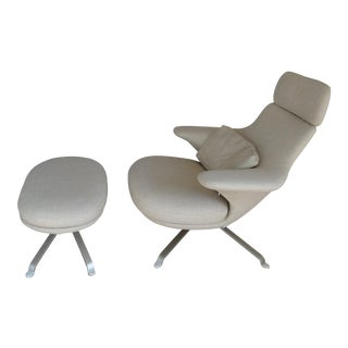 "B&B Italia ""Radar"" Armchair & Ottoman For Sale"