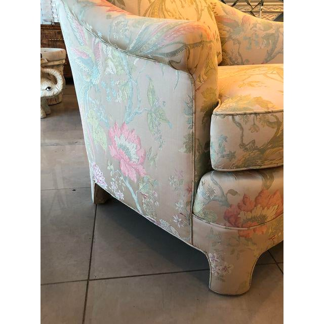 Vintage Pastel Tropical Birds Club Lounge Chairs - a Pair For Sale - Image 10 of 11