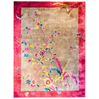 Beautiful Early 20th Century Chinese Art Deco Rug For Sale