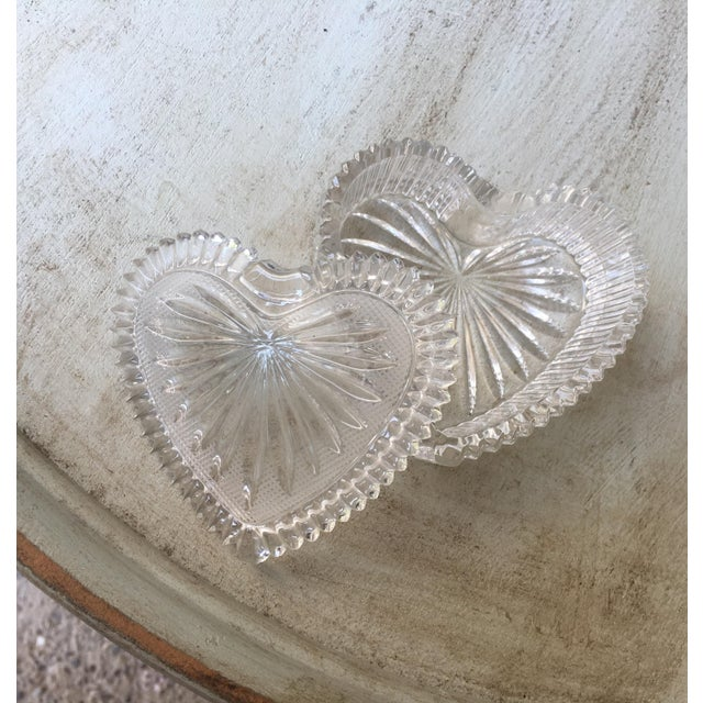Art Deco Style Crystal Heart Jewelry Box - Image 6 of 10