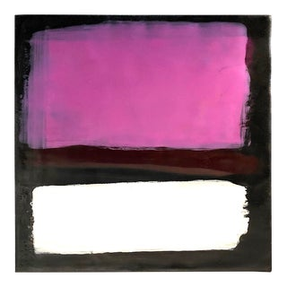 Original Encaustic Abstract Pink Painting by Susan Gellner For Sale