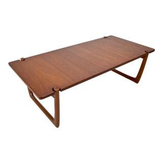 1960s Peter Hvidt + Orla Molgaard-Neilsen Danish Modern Solid Teak Coffee Table For Sale