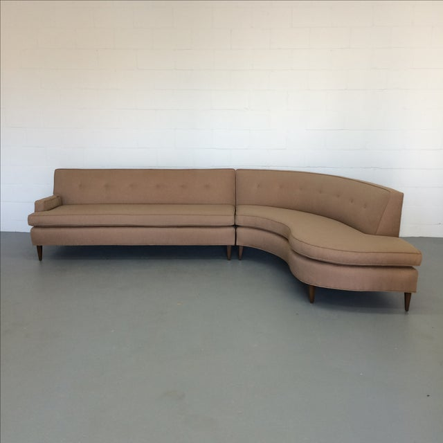 Mid-Century S-Curve Sectional - Image 3 of 7