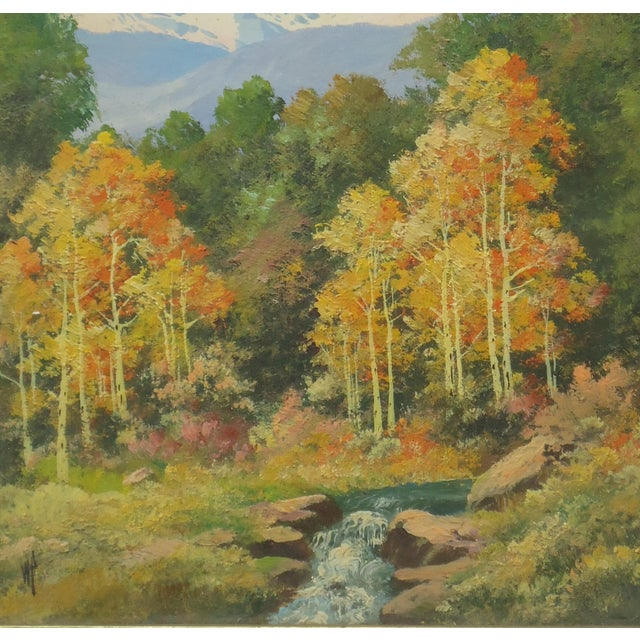 Willard Page Rocky Mountain Scene Painting For Sale - Image 5 of 8