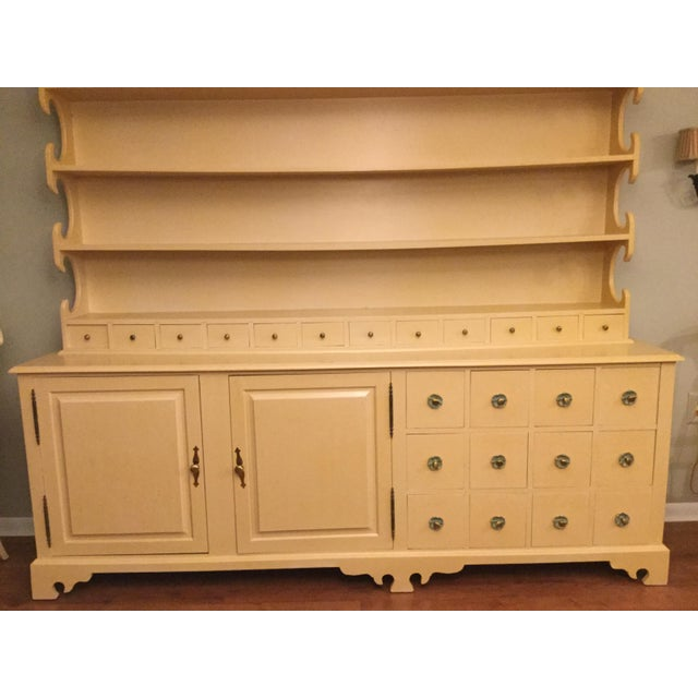 """Vintage Farmhouse """"Breakfront', """"Open Hutch Sideboard' For Sale - Image 4 of 13"""