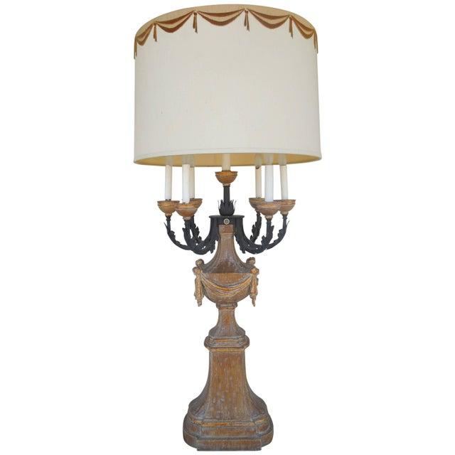 Brown 1950s Marbro Regency Candelabra Lamp For Sale - Image 8 of 8