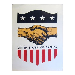 United States of America Patriotic Advertising Sign