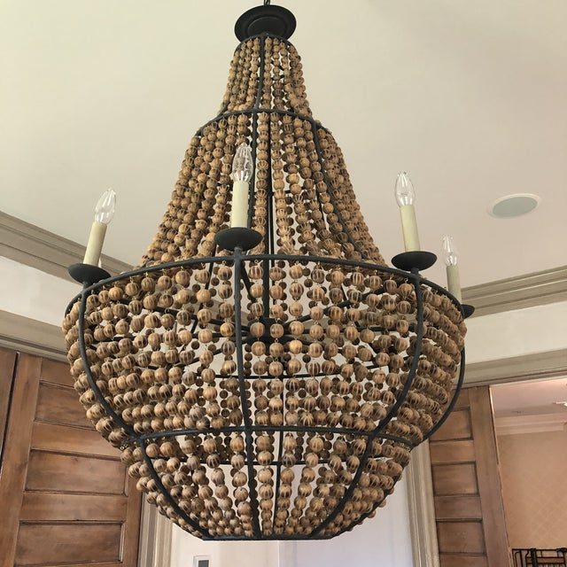 2010s Currey and Company Falconwood Chandelier For Sale - Image 5 of 10